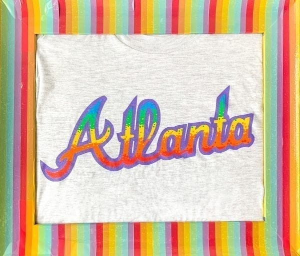 Classy LGBTQ Rainbow Atlanta shirt on light heather grey