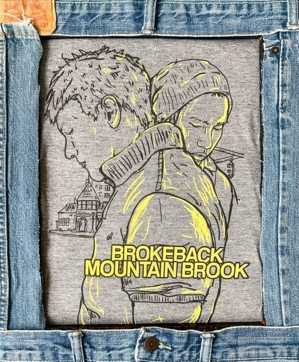 Broke-back Mountain Brook illustrated shirt in heather grey