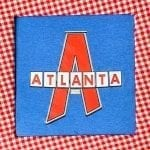 Classy LGBTQ red Atlanta shirt on blue
